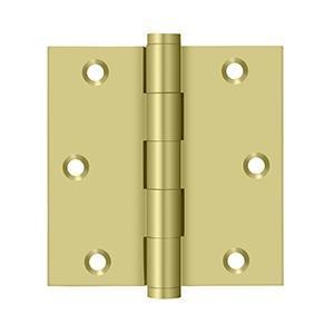 "Deltana - 3-1/2"" x 3-1/2"" Square Hinge - Polished Brass"