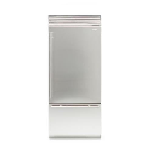 Fhiaba - X-Pro (Width: 36in, Configures: 1 Door + 1 Bottom Drawer + 2 Separate Temperatures (0t), Functions: Fridge + Freezer, Finish: Solid, Opening: Left, Icemaker: Yes)