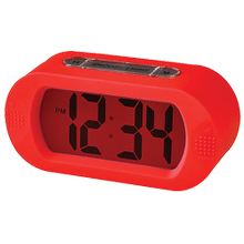 Portable Alarm Clock With Durable Silicone Cover - Red