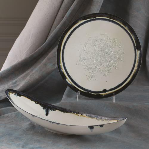 Glass Drip Canoe Bowl