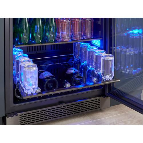 """24"""" Black Stainless Single Zone Beverage Cooler"""