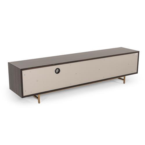 Modrest Parton Modern Ebony & Grey TV Stand
