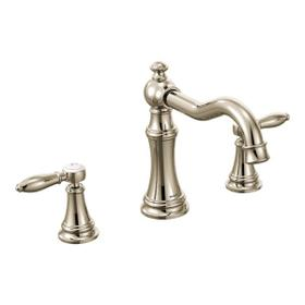 Weymouth polished nickel two-handle roman tub faucet