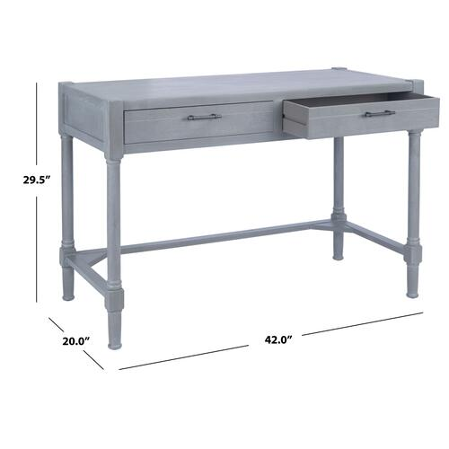 Filbert Writing Desk - White Washed Grey