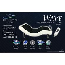 Cool Jewel Adjustable Bed - Wave - Adjustable Bed Base With Wired Remote