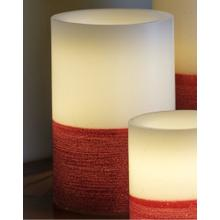 """6"""" Red Scratch LED Candle"""