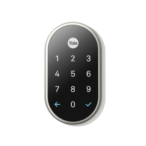Nest - Nest X Yale Lock (Nest Connect Required for Remote Access) Nickel