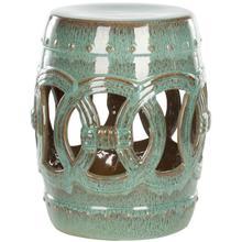 See Details - Antique Blue Double Coin Ceramic Garden Stool - Antique Blue