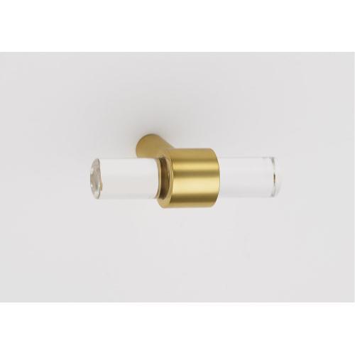 Acrylic Contemporary Knob A860-45 - Unlacquered Brass