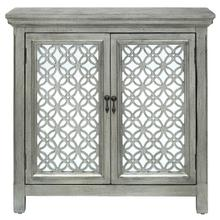 Two Door Accent Chest - Silver