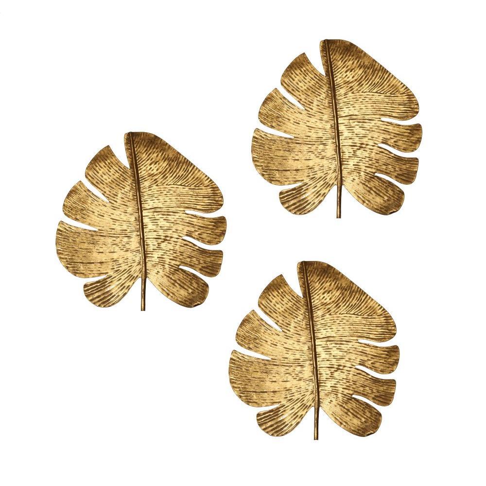 See Details - Gold Leaf Wall Art - Set of 3