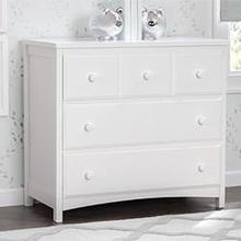 3 Drawer Dresser (White) - White (100)
