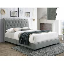 Janine Kg Platform Bed W/usb Grey