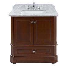 Walnut RICHMOND 30-in Single-Basin Vanity with Carrara Stone Top