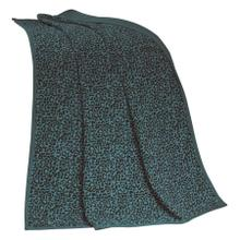 See Details - Alamosa Teal Chenille Leopard Throw Blanket
