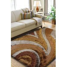Designer Shag S.V.D. 26 Area Rug by Rug Factory Plus - 5' x 7' / Brown