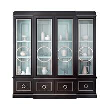 Astoria Breakfront with Circle Mullion Glass Doors