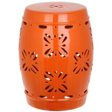 Sakura Garden Stool - Orange