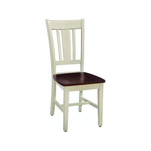 San Remo Chair in Almond & Espresso