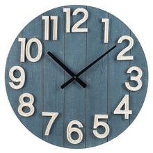 Blue Shiplap Wall Clock