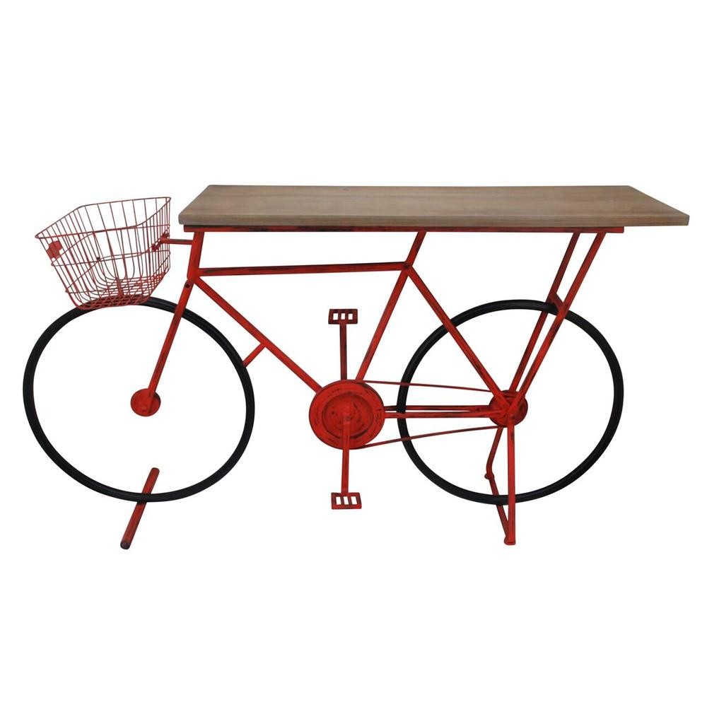 See Details - Bicycle Console Table, Red