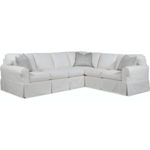 Braxton Culler Inc - Bedford Two-Piece Slipcover Sectional