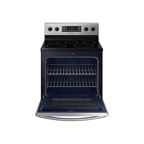 Samsung - 5.9 cu. ft. Freestanding Electric Range in Stainless Steel