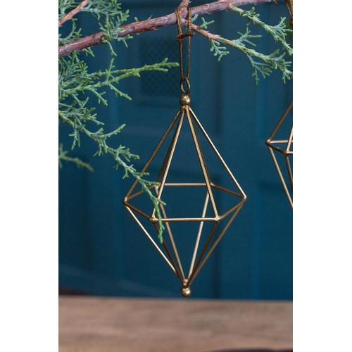 "Accent Decor - Noble Ornament (Size:4""x 7.25"", Color:Gold)"