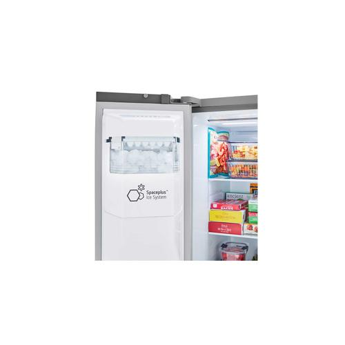 LG - 27 cu. ft. Side-by-Side Refrigerator with Smooth Touch Ice Dispenser