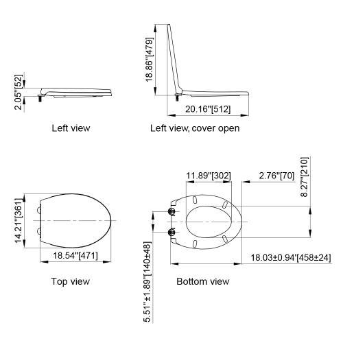 Axent Bath - Annie Slow Close Toilet Seat G106-0111-U1  AXENT