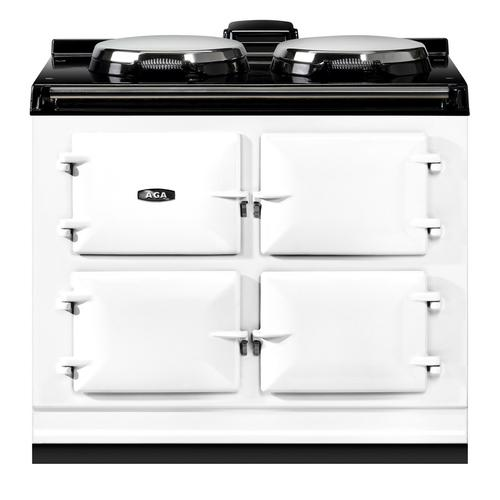 "AGA Dual Control 39"" Electric White with Stainless Steel trim"