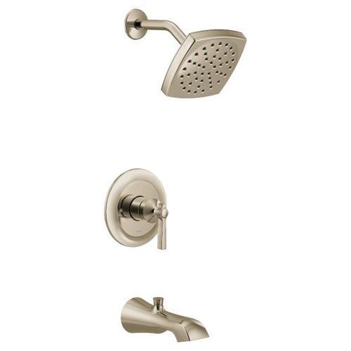 Flara polished nickel m-core 3-series tub/shower