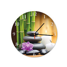 Spa Stones Round Square Acrylic Wall Clock