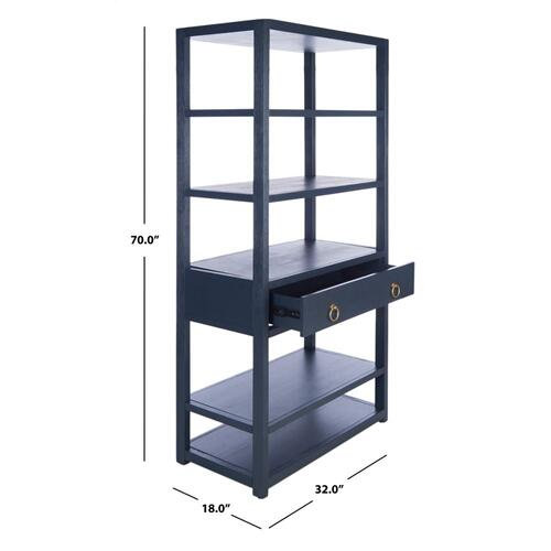 Johni 1 Drawer 5 Shelf Etagere - Navy
