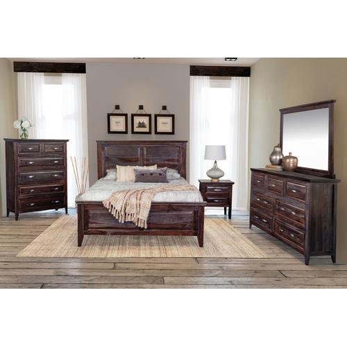 Porter International Designs - Sonora Midnight Bedroom Set, ART-772-MNT