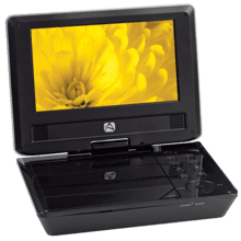 7-inch portable DVD player with 2 hour playback