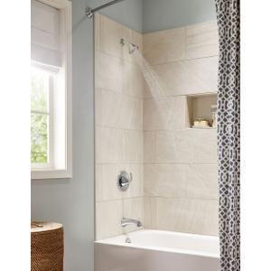 Glyde chrome posi-temp® tub/shower