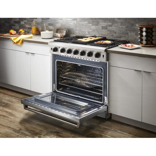 Product Image - 36 Inch Gas Range In Stainless Steel - Liquid Propane