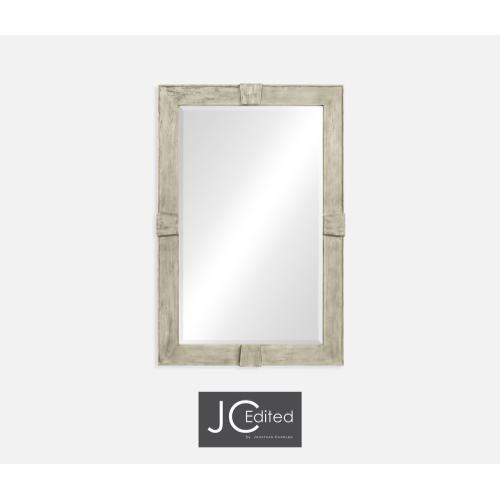Rustic Grey Rectangular Mirror