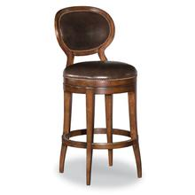 Oval Back Armless Swivel Bar Stool