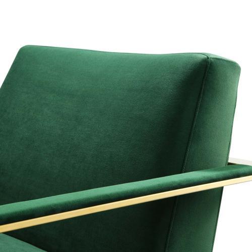 Modway - Seg Performance Velvet Accent Chair in Gold Emerald