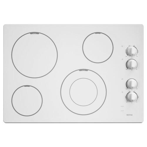 Maytag - 30-inch Wide Electric Cooktop with Speed Heat Element