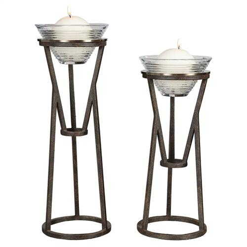 Lane Candleholders, S/2