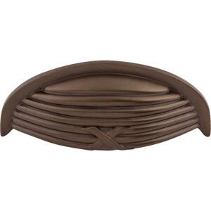 Top Knobs - Ribbon & Reed Cup Pull 3 Inch (c-c) Oil Rubbed Bronze