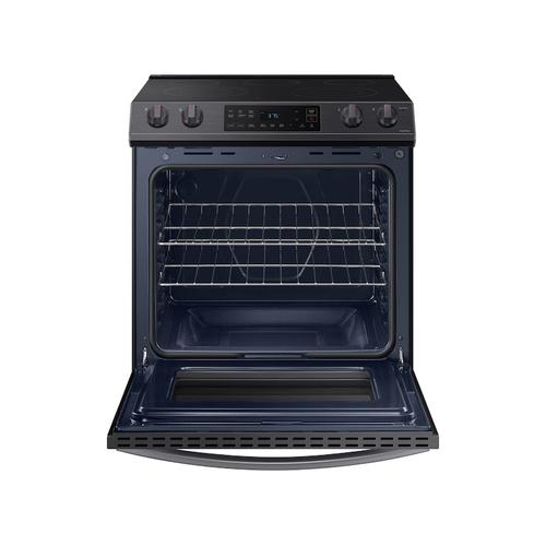 6.3 cu ft. Smart Slide-in Electric Range in Black Stainless Steel