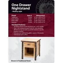 See Details - Hickory One Drawer Nightstand