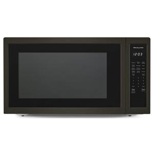 "KitchenAid24"" Countertop Microwave Oven with PrintShield™ Finish - 1200 Watt - Black Stainless"