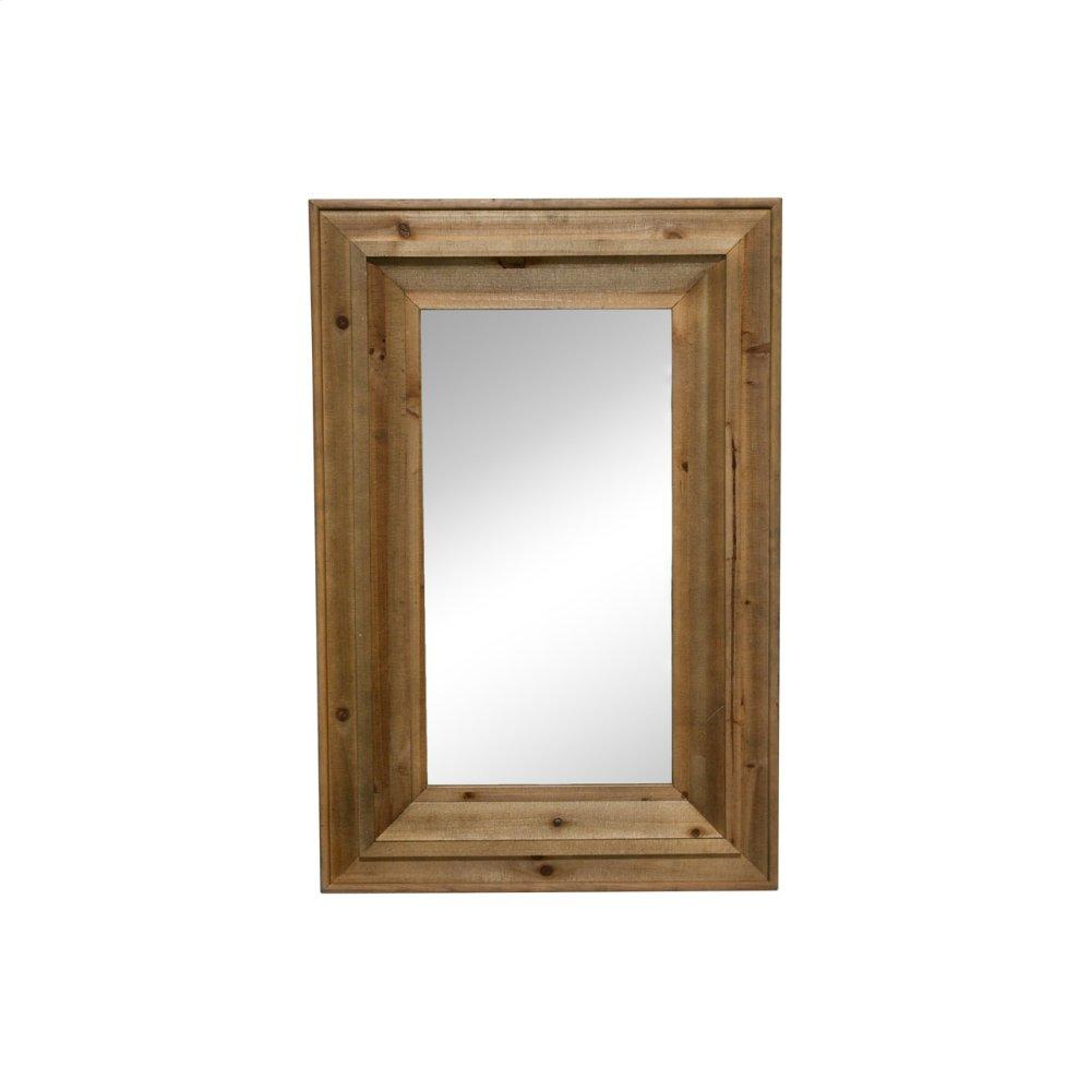 "Wood Frame 24 X 36"" Wall Mirror, Brown Wb"