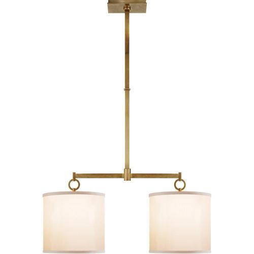 Visual Comfort BBL5035SB-S Barbara Barry French Cuff 2 Light 34 inch Soft Brass Linear Pendant Ceiling Light