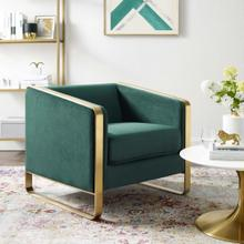Visualize Accent Club Lounge Performance Velvet Armchair in Green